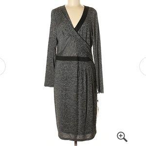 Adrianna Papell XL faux wrap dress